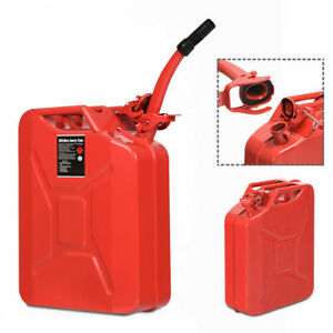 5 Gallon 20l Jerry Fuel Can Steel Gas Container Emergency Backup W Spout Epa