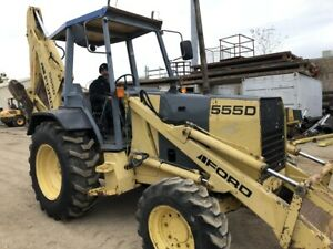 New Holland Ford 555d 4wd Backhoe Excavator Video Walkaround operating Link