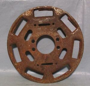 Vintage Industrial Machine Age Decor Clutch Plate Cover Steampunk Altered Art