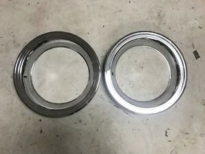 Set Of 2 Stainless Steel Trim Rings For 15x7 Chrysler Rally Wheels