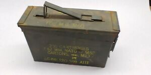 Military Ammo Can 200 Cartridge 7.62 MM M.G. M60 - M73 Metal Box Vintage Empty