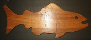 Vintage Large Fish Wooden Cutting Board