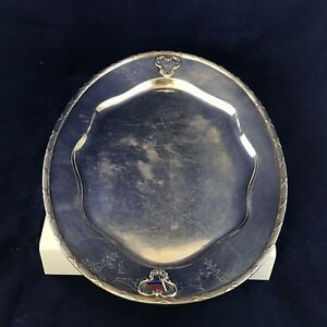 Smith Silver Co Silver Soldered Vintage United States Serving Platter