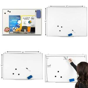 Officepro Ultra slim Lightweight Magnetic Dry Erase Board Accessories includ