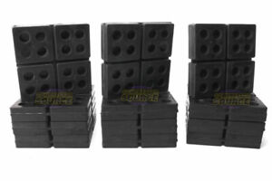 12 All Rubber Anti Vibration Pads Isolation Dampen Industrial Heavy Duty 4x4x3 4