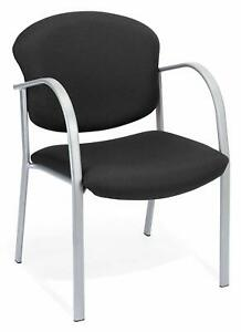Black Fabric Reception Office Guest Side Chair Waiting Room Office Chair