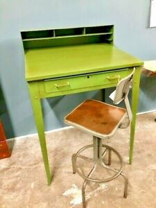 Vintage Industrial Factory Shippers Desk Repurposed