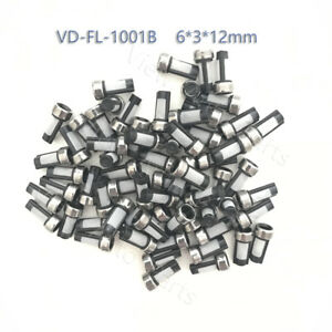 100 Pcs Fuel Injector Micro Basket Nozzle Filter For Injector Repair Kit 6 3 12