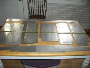 Mix Lot Stainless Steel Sheet Metal Plate 24 Lbs