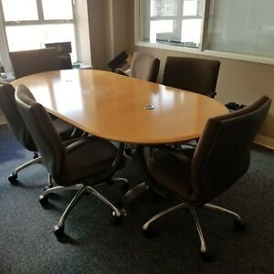 Conference Table And Six Chair Set
