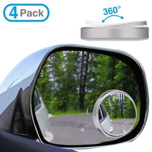 4x Car Wide Angle Convex Blind Spot Round Stick On Side View Rearview Mirrors Us
