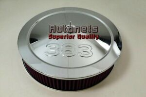 14 Sb Chevy 383 Bold Logo Stroker Chrome Air Cleaner Holley Washable Recessed
