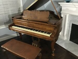 Kranich And Bach Baby Grand Piano Vintage Antique Collector