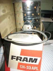Vintage Nos Engine Oil Filter Extra Guard Fram Ch33apl