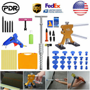 Us Paintless Dent Repair Pdr Tools Dent Puller Lifter Slide Hammer Hail Removal