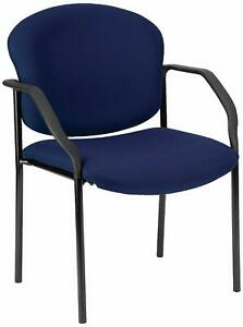 Navy Fabric Reception Office Guest Side Chair Waiting Room Office Chair