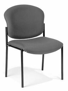 Gray Fabric Reception Office Guest Side Chair Waiting Room Office Chair