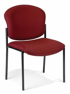 Wine Fabric Reception Office Guest Side Chair Waiting Room Office Chair