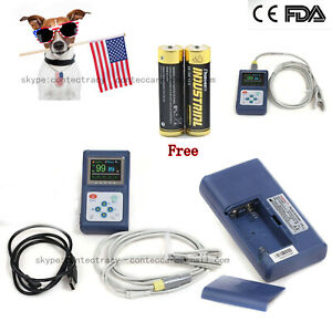Fda Vet Pulse Oximeter Finger Blood Oxygen Spo2 Pr Veterinary Heart Rate Monitor