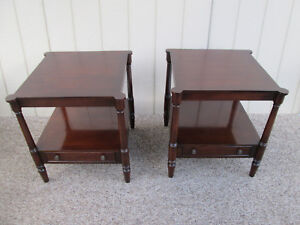 49223 Pair Cherry Lamp Table Stand S