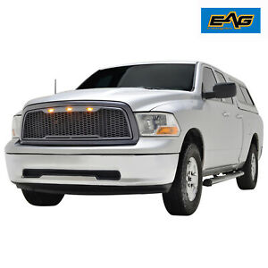 Eag Fit For 09 12 Dodge Ram 1500 Grille Raptor Style Replacement W Led Lights
