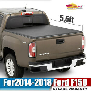 For 2016 2018 Chevrolet Silverado Colorado 5ft Roll Up Bed Tonneau Cover Set