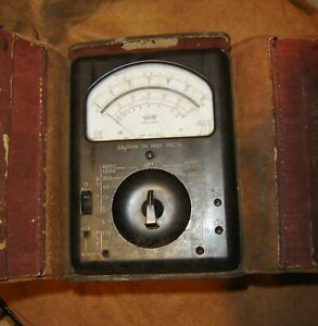 Classic Toledo Edison Triplett Volt Ohm Millimeter Model 630 a Type 3 With Case