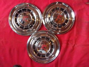 Vintage 1957 Nash Rambler 15 Wheel Covers 3 Only