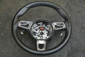 Gt Style Sport Steering Wheel Auto Heated Black 911 Boxster Cayman 718 2017 18