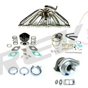 Rev9 Turbo Charger Top Mount Setup Kit Skyline R32 R33 R34 Rb25 T67 Gts 500hp