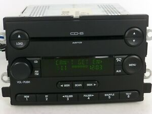 Ford F150 Lincoln Mercury Oem Radio 6 Cd Disc Changer Mp3 Player Stereo Receiver
