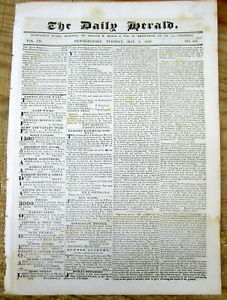 1839 Newspaper With The Us Indian Removal Policy That Led To Thetrail Of Tears