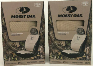 Mossy Oak Khaki Universal Camo Lowback Seat Cover Complete Set Break Up Country