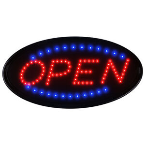 Boshen 19 10 Neon Animated Led Business Sign Open Light Bar Store Shop Display