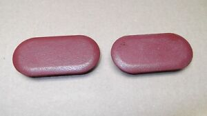 1987 93 Mustang Red Center Console Rear Bolt Covers Plug Trim End Caps 87 93 5 0