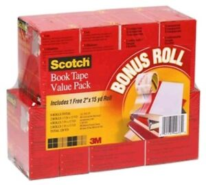 Scotch Book Repair Tape 8 roll Multipack 15 yard Rolls 3 Core mmm845vp t38