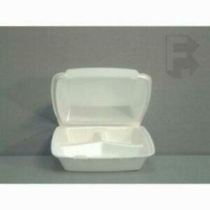 Dart Foam Medium Food Containers W Hinged Lid 200 Food Containers fit 4881