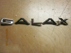 1966 Ford Galaxie Letters