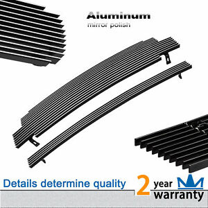 Silver Billet Grille Front Grill Combo Insert Fit 2001 2004 Toyota Tacoma