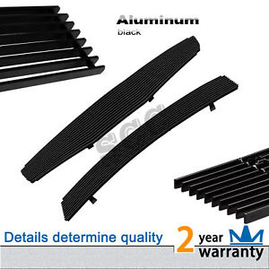 Black Billet Grille Front Combo Grill Fit 2007 2008 Nissan Maxima