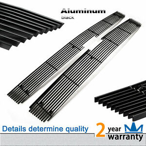 2pcs Black Grille Grill Main Upper Stainless Fit 2007 2010 Chevy Silverado