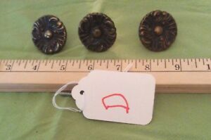 Vintage Copper Drawer Knobs Pulls Lot Of 3 Cabinet Pulls Handles D