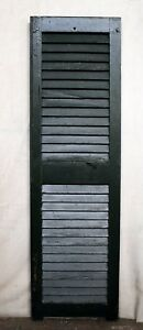 3 Avail 14 X49 Vintage Antique Old Solid Wood Wooden Window Shutter Louver Door