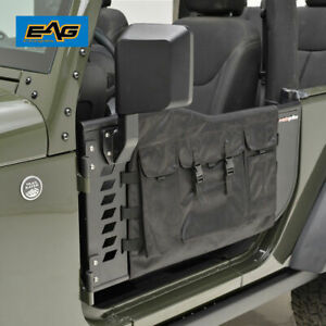 Eag 07 18 Jeep Wrangler Jk 2 Door Steel Tube Door With Side Mirrors