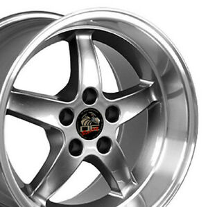 17x10 5 17x9 Rims Fit Mustang Cobra R Wheels Gunmetal Mach d Set