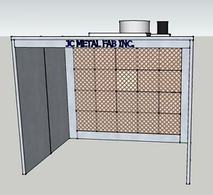 12ft Wide Open Face Spray Paint Booth single Phase