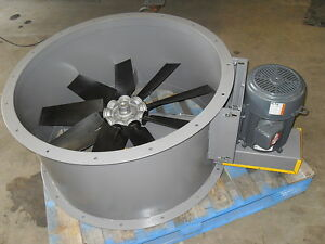 34 Dia Tube Axial Exhaust Fan For Paint Spray Booth 3 Phase Power