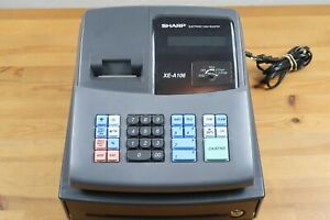 Sharp Electronic Cash Register Model Xe a106 Black With Keys And Box