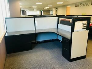 Steelcase 6x8 Glass Cubicle preowned local Pick Up Only