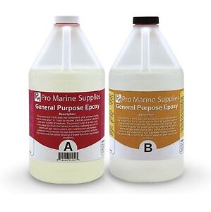 Crystal Clear Epoxy Resin General Purpose Bar Table Top Coating 1 Gallon Kit